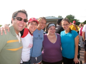 The morning of my heart walk, with amazing friends.